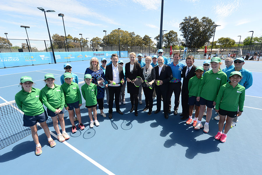 The Official Opening Ceremony For The New 6.2 Million-dollar Bendigo Tennis Complex